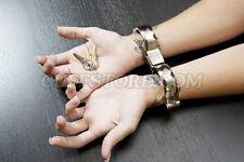 "6"" Handcuffs Turbo Quick Release Snap Shut Cuffs Restraint"