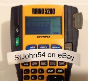 Dymo Rhino 5200 Industrial Pro Handheld Label Maker Thermal Printer EUC TESTED