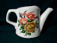 Fabulous White Floral McCOY Pottery Flower Pot / Sprinkling Can Planter