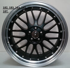 """19"""" inch To fit Audi TT alloy wheels matt black pol lip set of 4 5x112"""