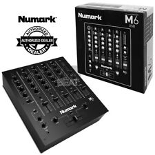 Numark M6 USB 4-Ch Professional DJ Mixer with USB Interface 0676762164214, BLACK