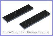 Lego 2 x Platte (2 x 8) schwarz - 3034 - Black Plate - NEU / NEW