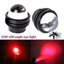 2X Red 15W LED Eagle Eye Light Car Daytime Running DRL Backup Tail Fog Lamp New