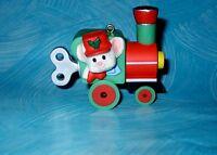 Hallmark Ornament Vintage 1985 Engineering Mouse Train Engine Plastic