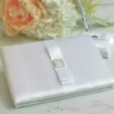 White Satin Bow Wedding Guest Book