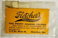 Antique Fletcher's Teas and Coffees One Profit Sharing Coupon Hannibal Mo Ad