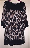 Mimosa Smooth Black/ Brown Mix Dress, Size 16 - Lovely!