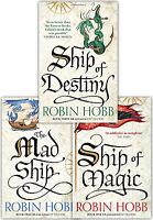 Robin Hobb Collection 3 Books Set The Liveship Traders Ship of Destiny, Mad Ship