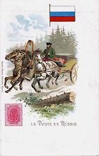 IMPERIAL RUSSIA & RUSSIAN POSTAL TROIKA ORIGINAL ca 1900s  POSTCARD