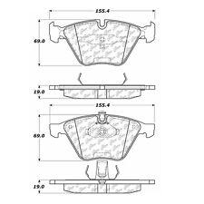 Centric Parts 104.09180 Front Super Premium Semi Metallic Brake Pads
