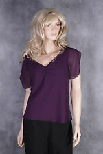 New Peter Martin Purple Top Size 12 Ladies Party Mother of the Bride BNWT Womens