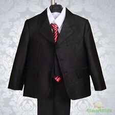 Black Boy Formal Suit Christening Wedding Pageboy Size 2 ST024A