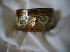 Stunning lacquered wood and MOP cuff bangles. Handcrafted from Vietnam.