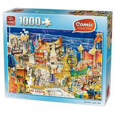 1000 Piece Comic Jigsaw Puzzle Las Vegas Casinos Nevada America 05201