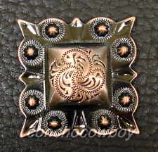 WESTERN HORSE TACK SADDLE COPPER SQUARE BERRY CONCHO 1 inch screw back