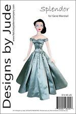 Splendor Doll Clothes Sewing Pattern for Gene Marshall Doll Ashton Drake