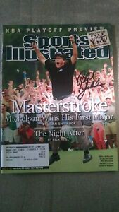PHIL MICKELSON signed Sports Illustrated 4/19/2004 Masters, 1st major