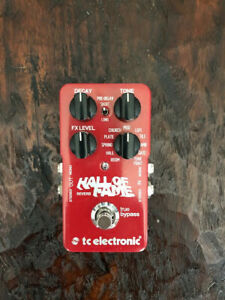 TC Electronic Hall of Fame Reverb Guitar Effect Pedal -- Excellent Condition