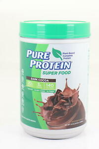 3 PACK Pure Protein SuperFood Dark Cocoa, 1.51lbs BB 3/21 U16A