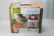 New Infantino Squeeze Station 10 Baby Food Squeeze Pouches Storage