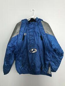 vintage Starter NFL Pro Line Detroit Lions Full-Zip Hooded Jacket Size XL