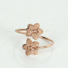 Hibiscus Flower Bypass Ring Estate 14k Rose Gold Pre Owned Jewelry Sz 5
