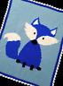 Crochet Patterns - FOX Woodland Baby BOY Afghan Pattern *EASY