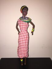 Black African American Short Hair Barbie Doll Ooak Dress And Some Accessories