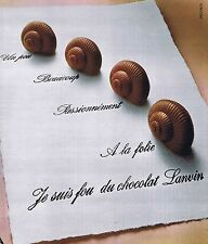 Publicité Advertising 016 1972 Lanvin les escargots chocolat