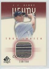 2001 SP Authentic Tour Swatch Red /250 JJ Henry #JJ-TS Rookie