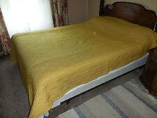 Gold Antique Satin Bedspread Retro Vintage Unused 78 X 102inches Single Double