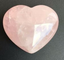 Rose Quartz Crystal Heart- Medium