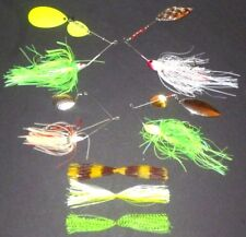 Manufacturer's Mix 1/4-3/4 Spinner Bait Package (Lot of 4+3 Extra Skirts-SB10)