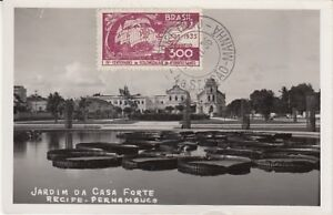 Ansichtskarte Brasilien  Jardim Da Casa Forte  Recife Pernambuco  1936