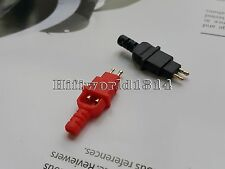 One Pair Gold Plated Plug for DIY Headphone Cables HD600 HD650 Connector