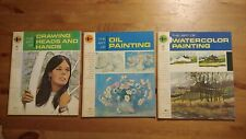 The Grumbacher Library Vtg Art Books Lot Of 3 Oil Painting Watercolor Heads Hand