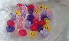 ASSORTED PLASTIC CUP CAKE RING TOPPER X 35 (NEW CULPITT)