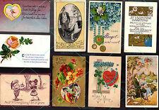 17 POSTCARD Antique Vintage VALENTINE SWEETHEART LOVE 1907-1912 1c stamp BE MINE