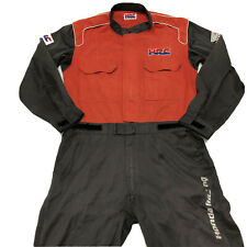 Vintage Honda Racing Worksuit 80s 90s JDM Rare Mechanic Jumpsuit Red HRC Jacket