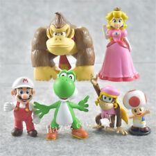 6pcs/Lot Super Mario Bro PVC Figure Figurine Doll Home Statue Gift