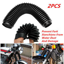 2x 360mm Fork Dust Cover Gaiters Boots Shock Rubber For Motorcycle Dirt Bike L+R