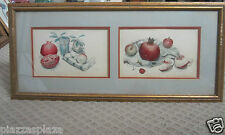 Anthony LaPaglia (1897-1993) 1966 signed two fruit watercolor paintings!