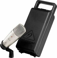 BEHRINGER C-1 Studio Cardioid Condenser Microphone Mic w/ Hard Case & Clip