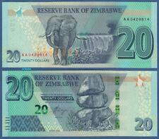 SIMBABWE / ZIMBABWE 20 Dollars 2020  UNC  P. NEW