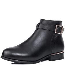 Para Mujeres Zapatos Botas al Tobillo Plana Hebilla
