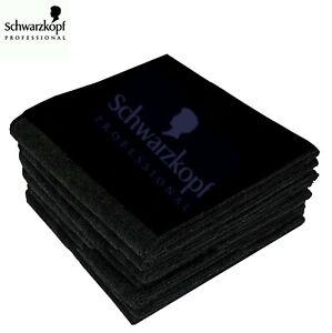 schwarzkopf professional 100% Pure Cotton towels beauty hair salon black towel