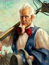 PAINTINGS PORTRAIT UNCLE SAM FARMER ART POSTER PRINT LV3419