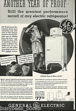 1935 General Electric Refrigerator advertisement, early MONITOR-TOP fridge, GE