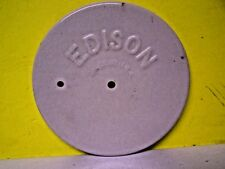 Antique EDISON MADE IN USA glass Battery Jar Ceramic Lid