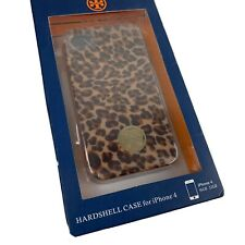 TORY BURCH iPhone 4 Case Leopard Print Hardshell Gold Tone Logo New Tags